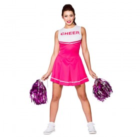 Pink & White High School Cheerleader