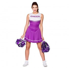 Purple & White High School Cheerleader