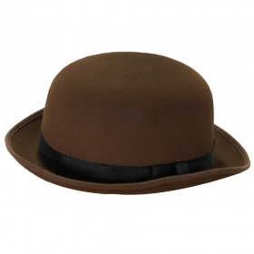 Brown Victorian Detective Bowler Hat
