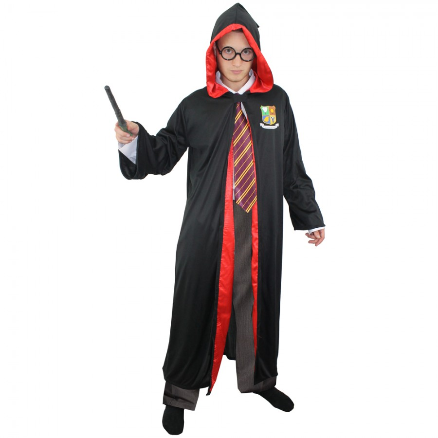 Robe And Wizard Hat: Adult Wizards Robe