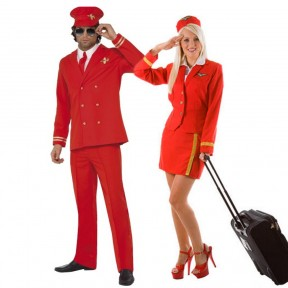 Couples Costume - Pilot & Hostess