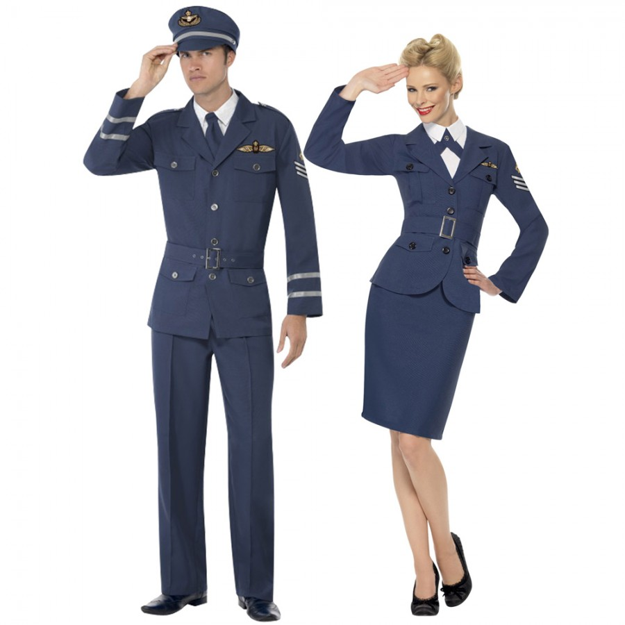 Couples costume ww2 airforce for Air force decoration writing guide