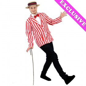 Adults Red and White Striped Blazer