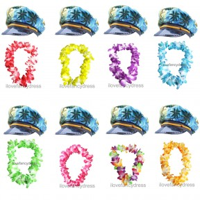 Hawaiian Sailor Hat + Lei