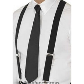 Black Gangster Necktie