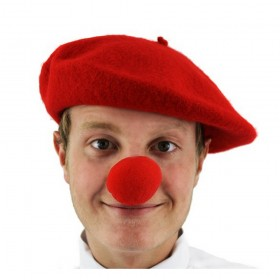 Red Nose Day Set - Beret + Nose
