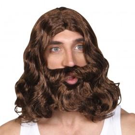 Jesus/Hippy Wig and Beard