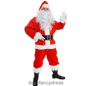 10 Piece Father Christmas Costume