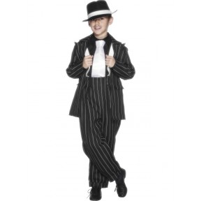 Boys 1920's Pinstripe Gangster Suit