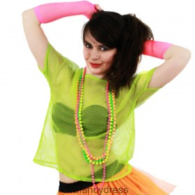 Lime Green 80s Mesh Top