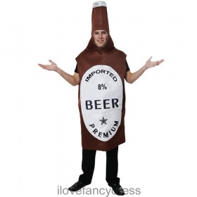 Adults Brown Beer Bottle Costume
