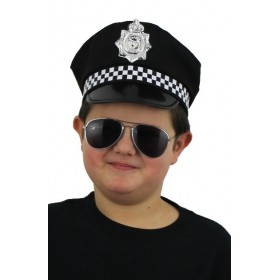 Childrens Police Panda Hat with Attached Badge
