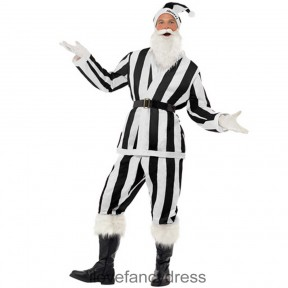 Santa Black and White Striped Football Costume