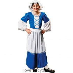 Blue Tudor Maid Costume