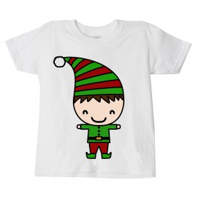Childrens Christmas 'Elf Boy' Festive T-Shirt