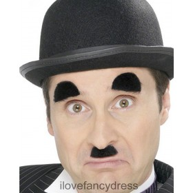 Charlie Chaplin Eyebrows and Moustache Set