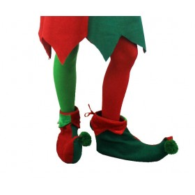 Red and Green Elf Christmas Tights