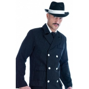 GANGSTER MALE COSTUME 20'S PIN STRIP SUIT MALE MEN FANCY DRESS