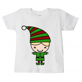 Childrens Christmas 'Elf Girl' Festive T-Shirt