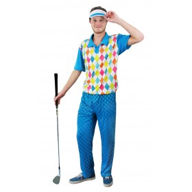 Mens Golf 'Hole In One' Top, Trousers and Visor Set