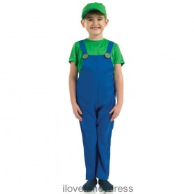 Green Plumbers Mate 80's Costume