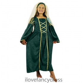 Green Tudor Princess Costume