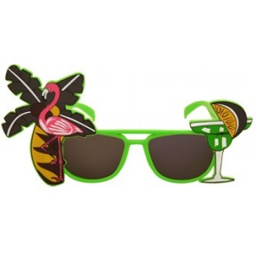 Tropical Green Flamingo Sunglasses