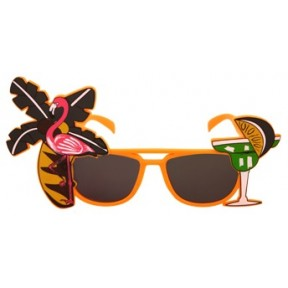 Tropical Orange Flamingo Sunglasses