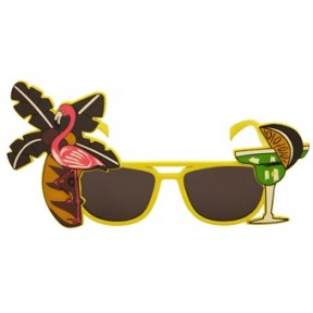 Tropical Yellow Flamingo Sunglasses