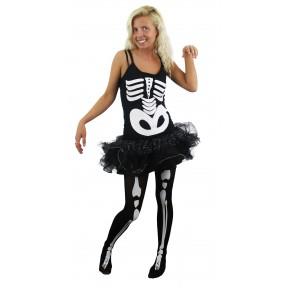 Ladies Skeleton Tutu Costume