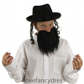 Jewish Rabbi Fancy Dress Costume Set