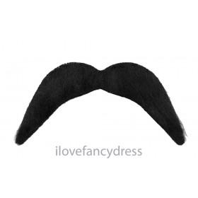 Stick on Black Moustache Mexican Bandit Tash