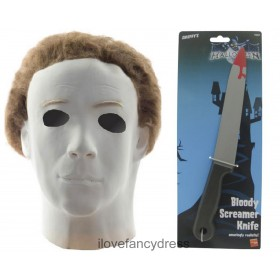 Official Licensed Michael Myers Mask and Bloody Knife