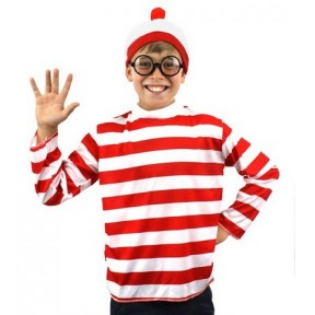 "Child ""Find Me"" Long Sleeve Top, Hat and Glasses"