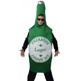 Adults Green Beer Bottle Costume