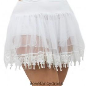 White Teardrop Lace Petticoat