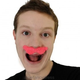 Pink Novelty Moustache