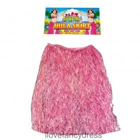 Pink Hawaiian Hula Grass Skirt