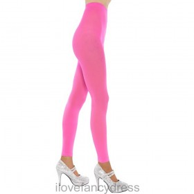 1980's Disco / Rave Style Pink Footless Tights