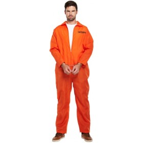 Mens Prisoner Jumpsuit / Convict Boiler Suit