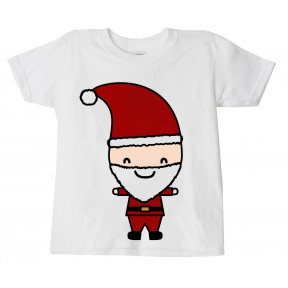 CHILDS CHRISTMAS SANTA  T-SHIRT XMAS TEE KIDS FESTIVE NOVELTY TOP PRINTED DESIGN ON 100% COTTON T SHIRT IN 5 SIZES - 3-14 YEARS CUTE X MAS BOYS GIRLS CHARACTERS GIFT PRESENT