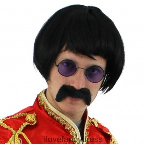 1960's Sergeant Pepper Accessory Set - Wig, Glasses, Moustache