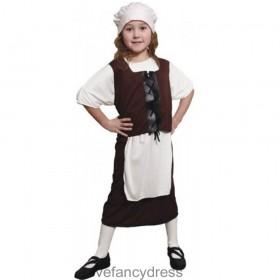 Brown Tudor Girl Costume
