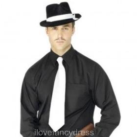 White Gangster Necktie