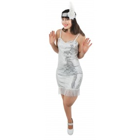 White Sequin Flapper Costume