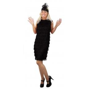 Adult Fringed Flapper Dress - Black
