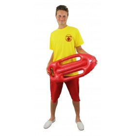 Yellow Lifeguard T-Shirt With Red Inflatable Float
