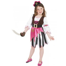 Pirate Girl Pink Dress + Headband