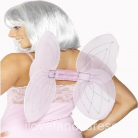 Pink Net Fairy Angel Wings