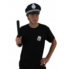 Mens Police Set - Hat, Badge + Truncheon